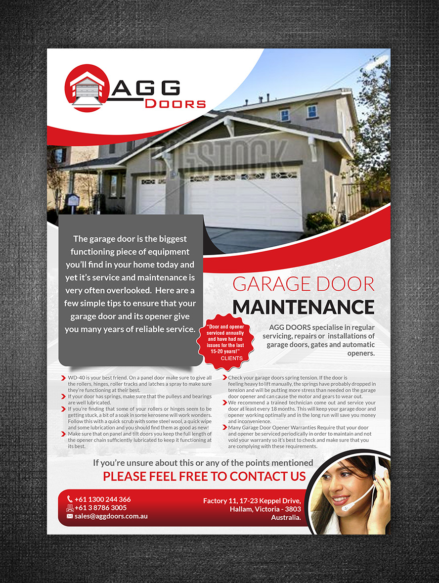 Flyer Design by hih7 for AGG DOORS PTY LTD | Design #5551601  sc 1 st  DesignCrowd & Elegant Playful Garage Flyer Design for AGG DOORS PTY LTD by hih7 ...