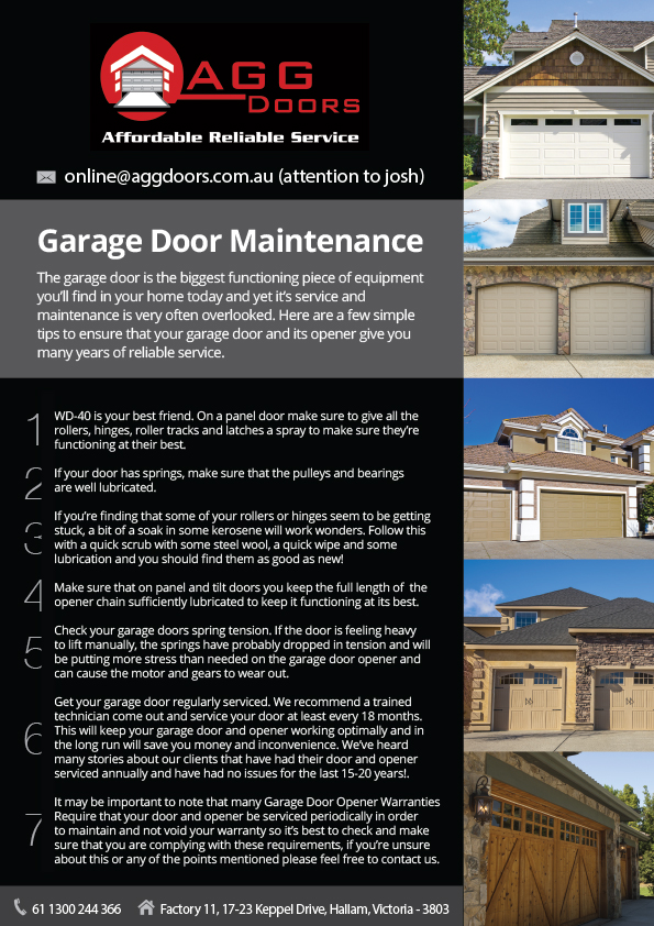 Elegant Playful Garage Flyer Design For Agg Doors Pty Ltd By Eden