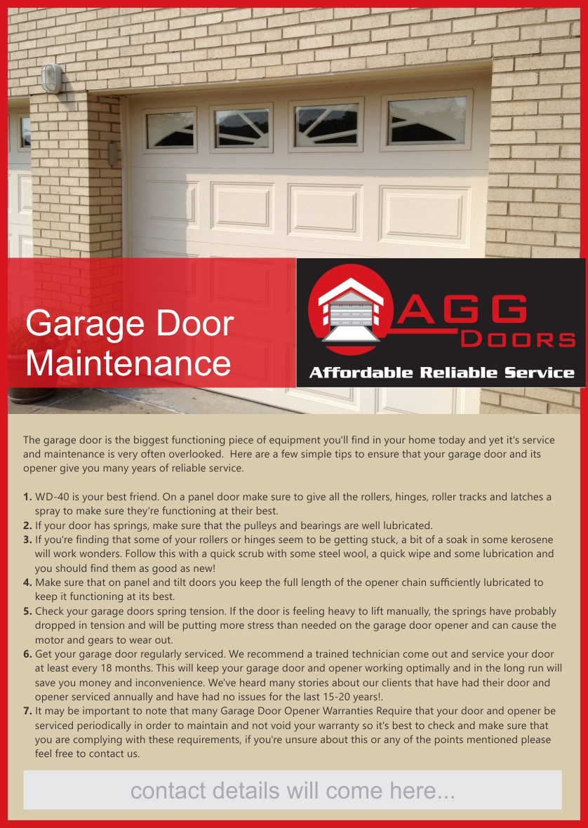 Elegant Playful Flyer Design For Agg Doors Pty Ltd By Dhaval84