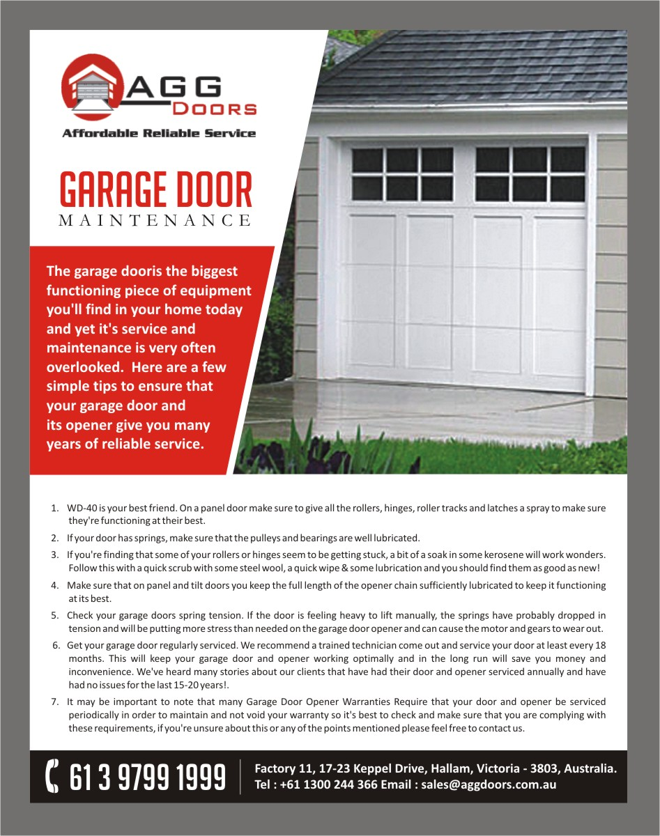 the garage door company wageuzi elegant playful flyer design for agg doors pty ltd by freelance