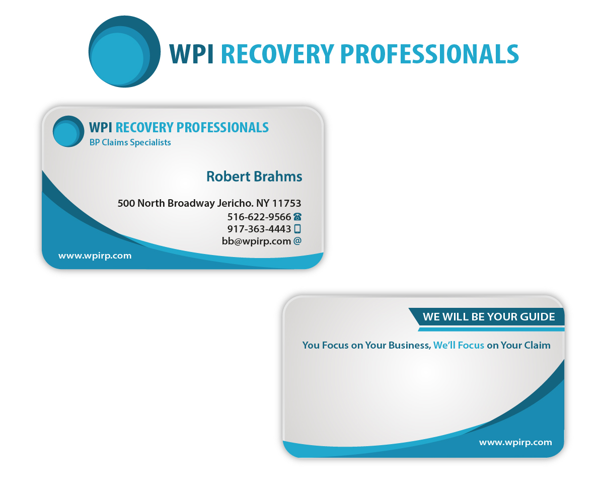Marketing Business Card Design for WPI Recovery Professionals by ...