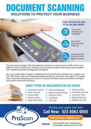 Flyer Design by rkailas - Document Scanning/Printing Flyer
