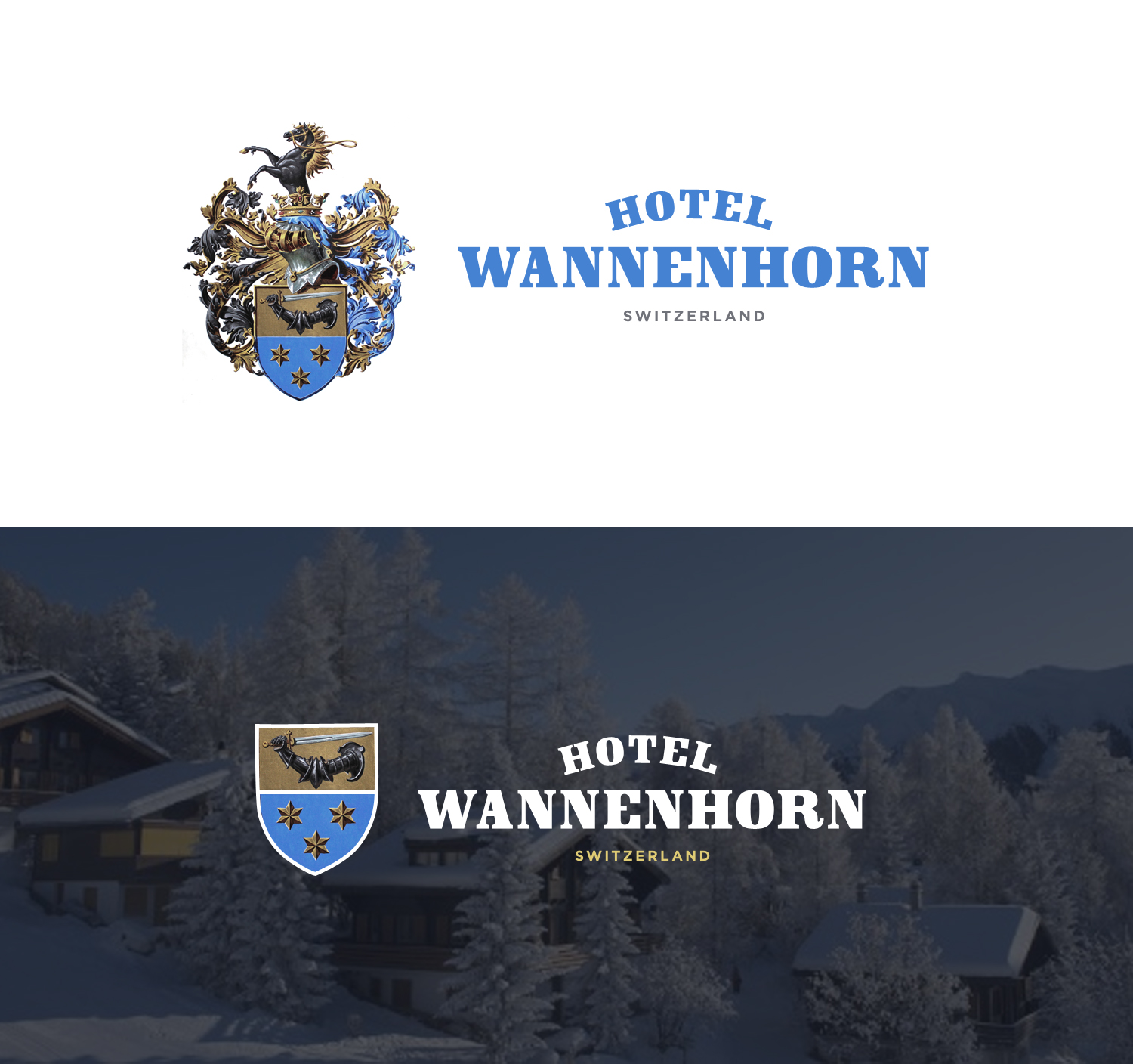 Hotel Wannenhorn Logo Design with Coat of Arms by SMST Designs