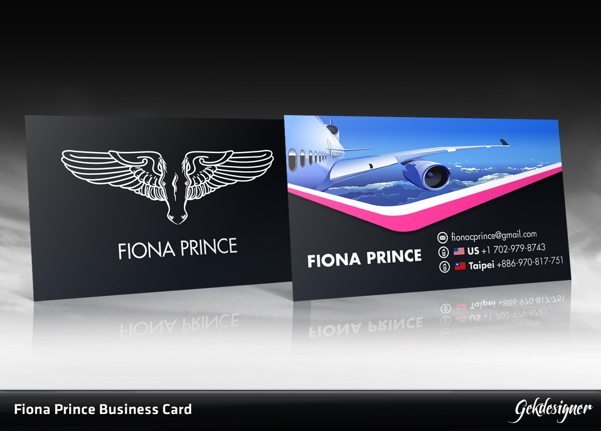 Bold, Modern, Airline Business Card Design for a Company by GEK ...