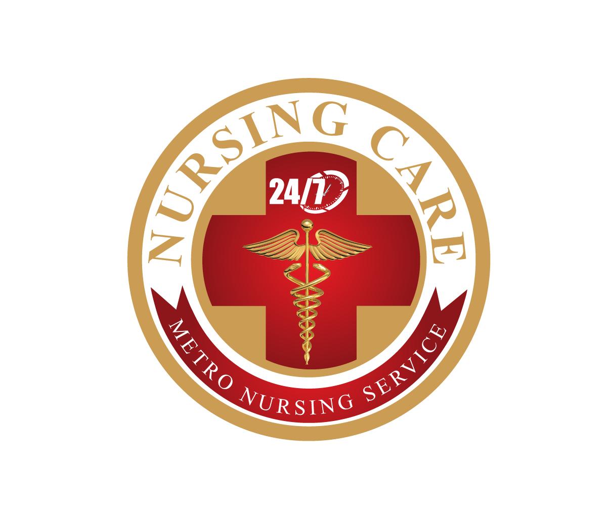 Employment agency logo design for nursing care 24 7 metro for Service design agency