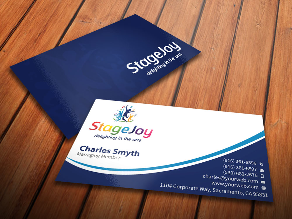 Character Design Course Singapore : Modern colorful training business card design for a