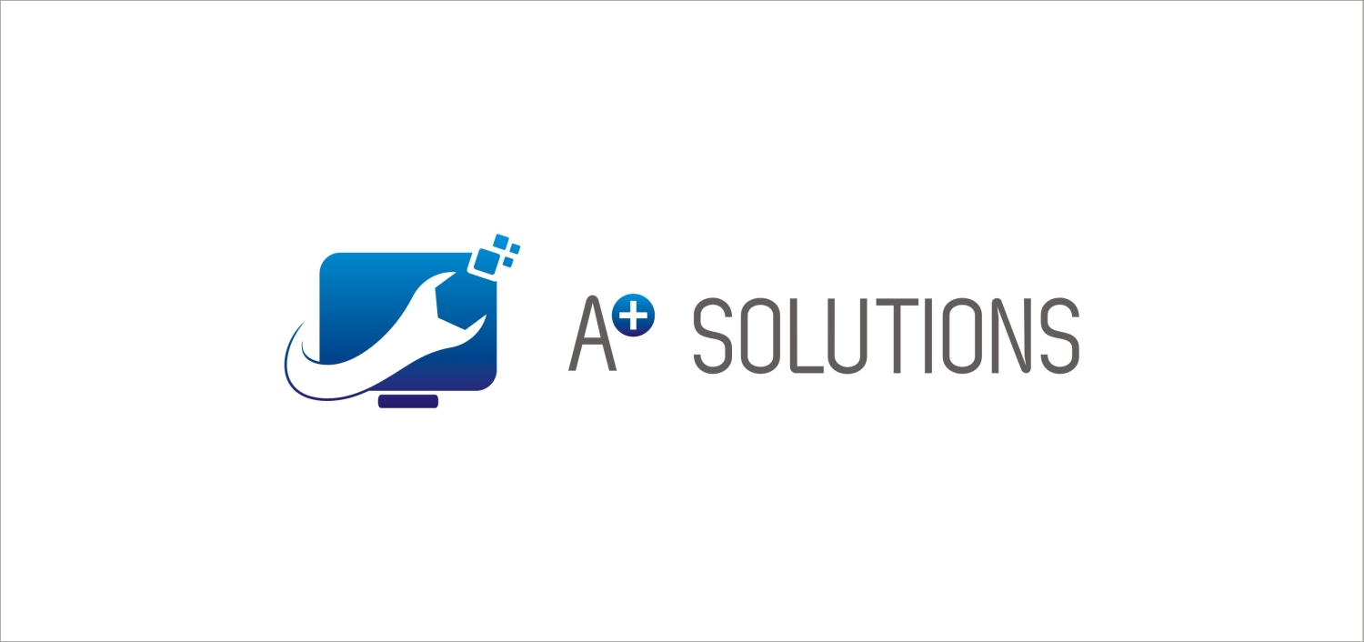 computer logo design for a solutions pc mac solutions by logoworld