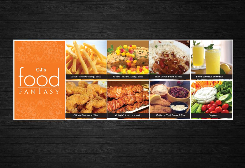 Bold modern business banner ad design for cj s food