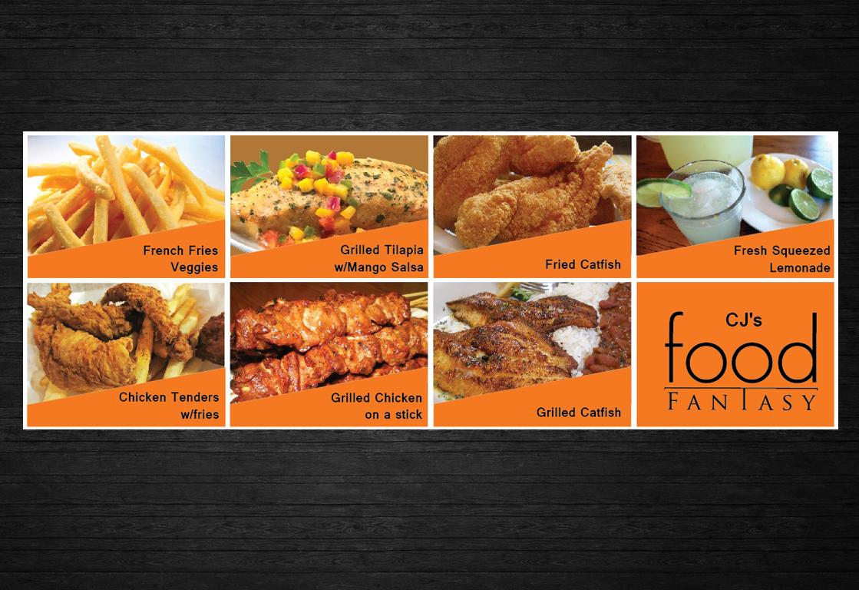 Bold modern banner ad design for cj s food fantasy by uk