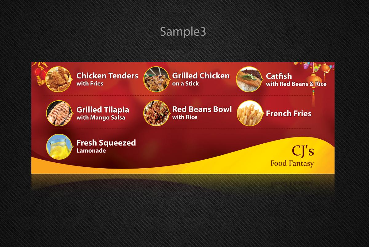 bold modern banner ad design for cj''s food fantasyovimatic