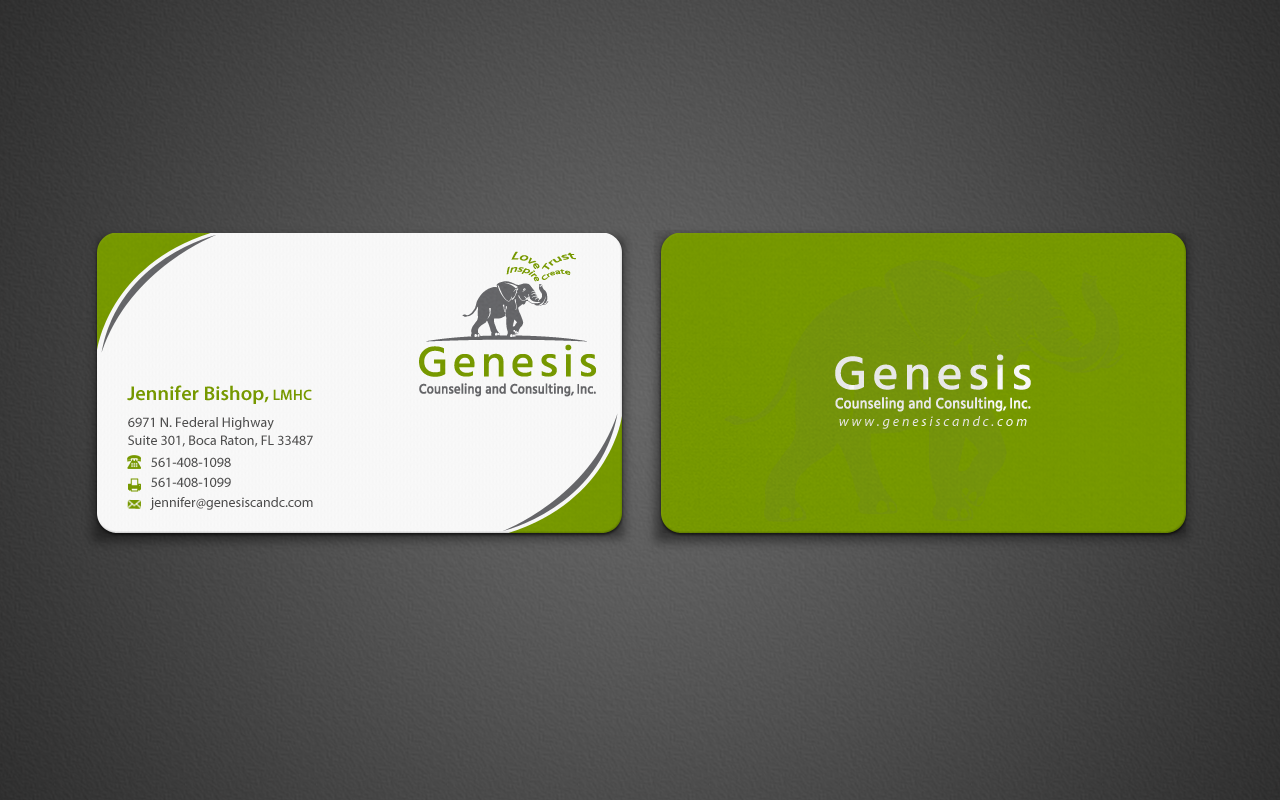 Elegant, Playful Business Card Design for de Novo Marketing and ...