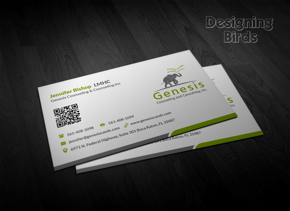 Elegant playful business business card design for de novo business card design by designing birds for de novo marketing and media llc design reheart