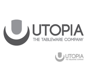 Logo Design by Anthony for Utopia Tableware Ltd.   Design #285310  sc 1 st  Logo Design - DesignCrowd & 88 Modern Logo Designs   Hospitality Logo Design Project for Utopia ...