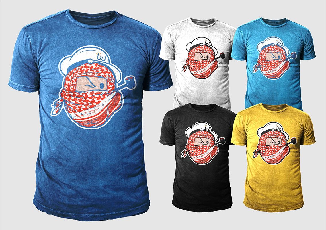 Design t shirt arabic - T Shirt Design By 777sky For Popeyes The Sailor Man Veiled With Arabic Scarf