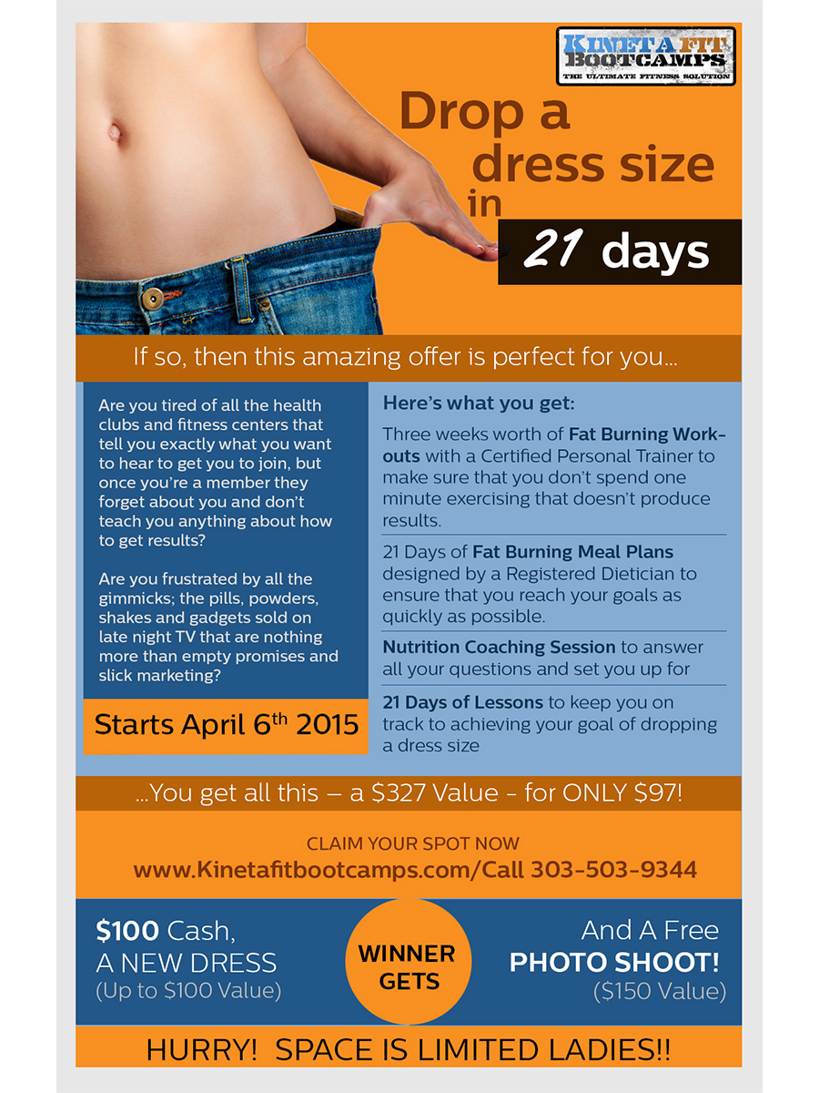 11x17 poster design - Poster Design By Nilesh_visual Designer For 11x17 Poster Drop A Dress Size Challenge Design