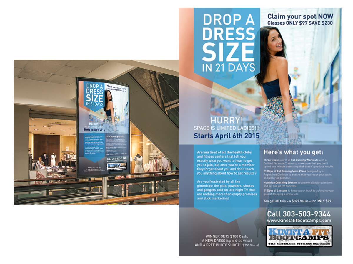 11x17 poster design - Poster Design By Findpadraig For 11x17 Poster Drop A Dress Size Challenge Design 5565167