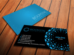 Business Card Design by MediaProductionArt for Biocrystal technologies  | Design #5578177