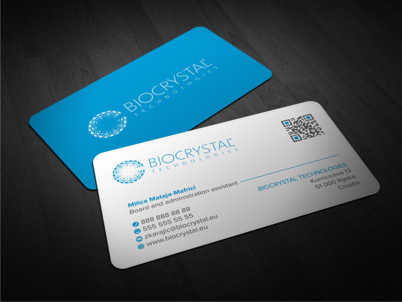Design De Carte Visite Par Atvento Graphics Pour Biocrystal Technologies