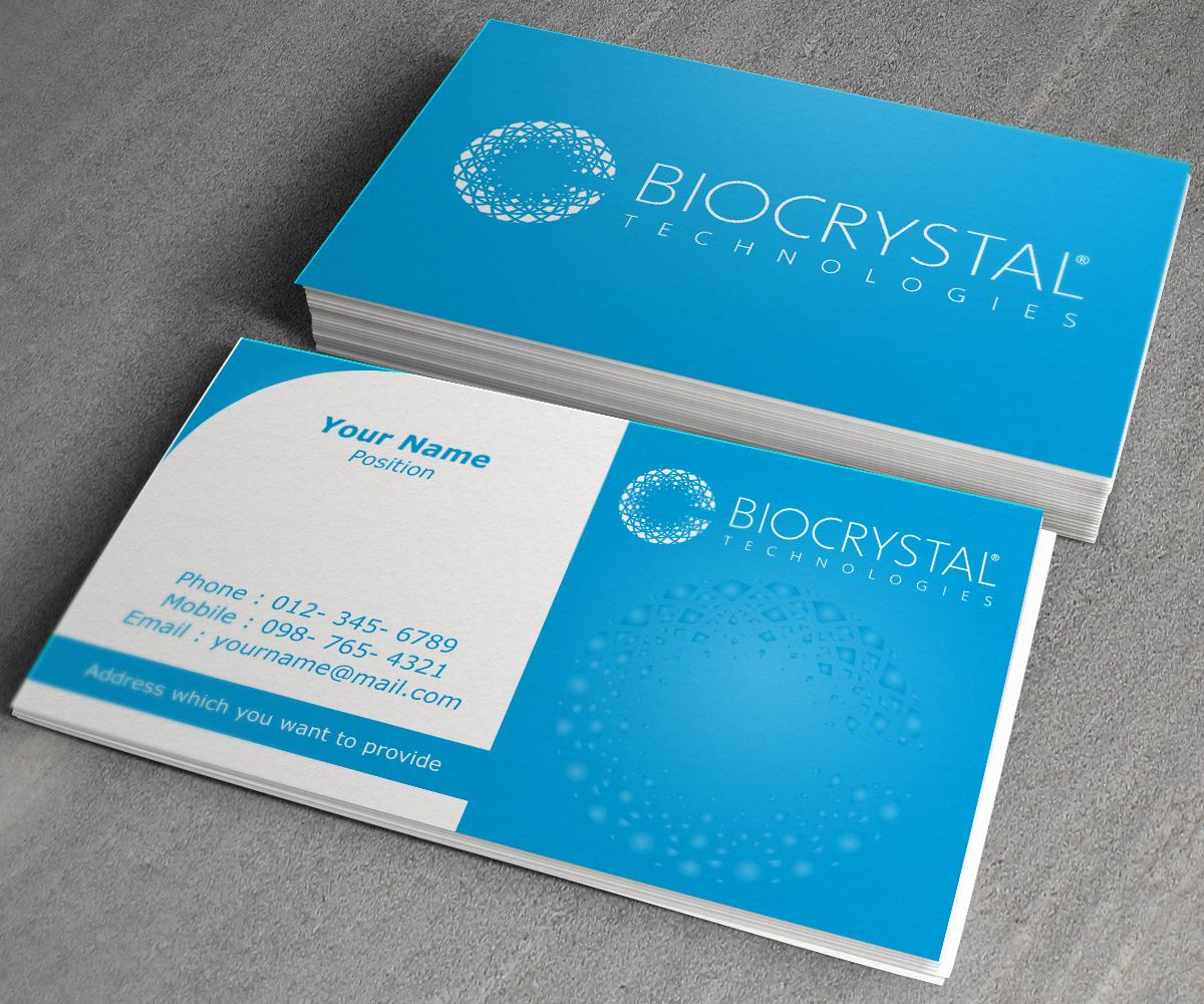 Professional, Modern, Business Business Card Design for Biocrystal ...