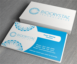 Business Card Design by toron00 for Biocrystal technologies  | Design #5535431