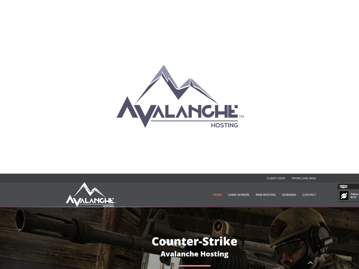Modern, Masculine, Computer Logo Design for Avalanche