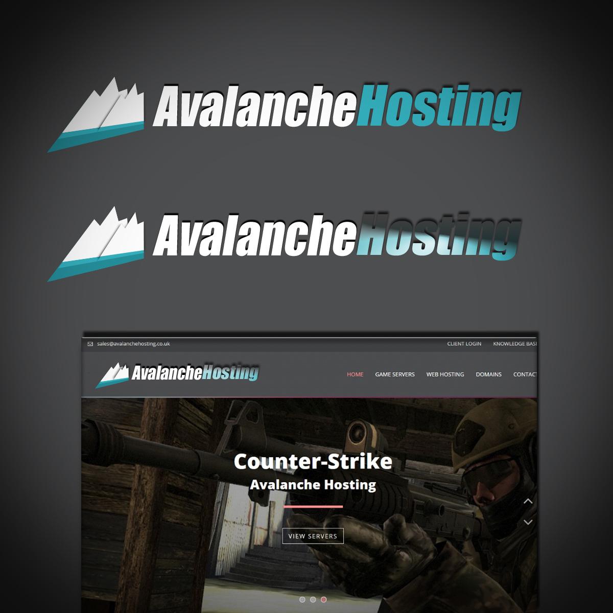 Modern, Masculine, Computer Logo Design for Avalanche Hosting by