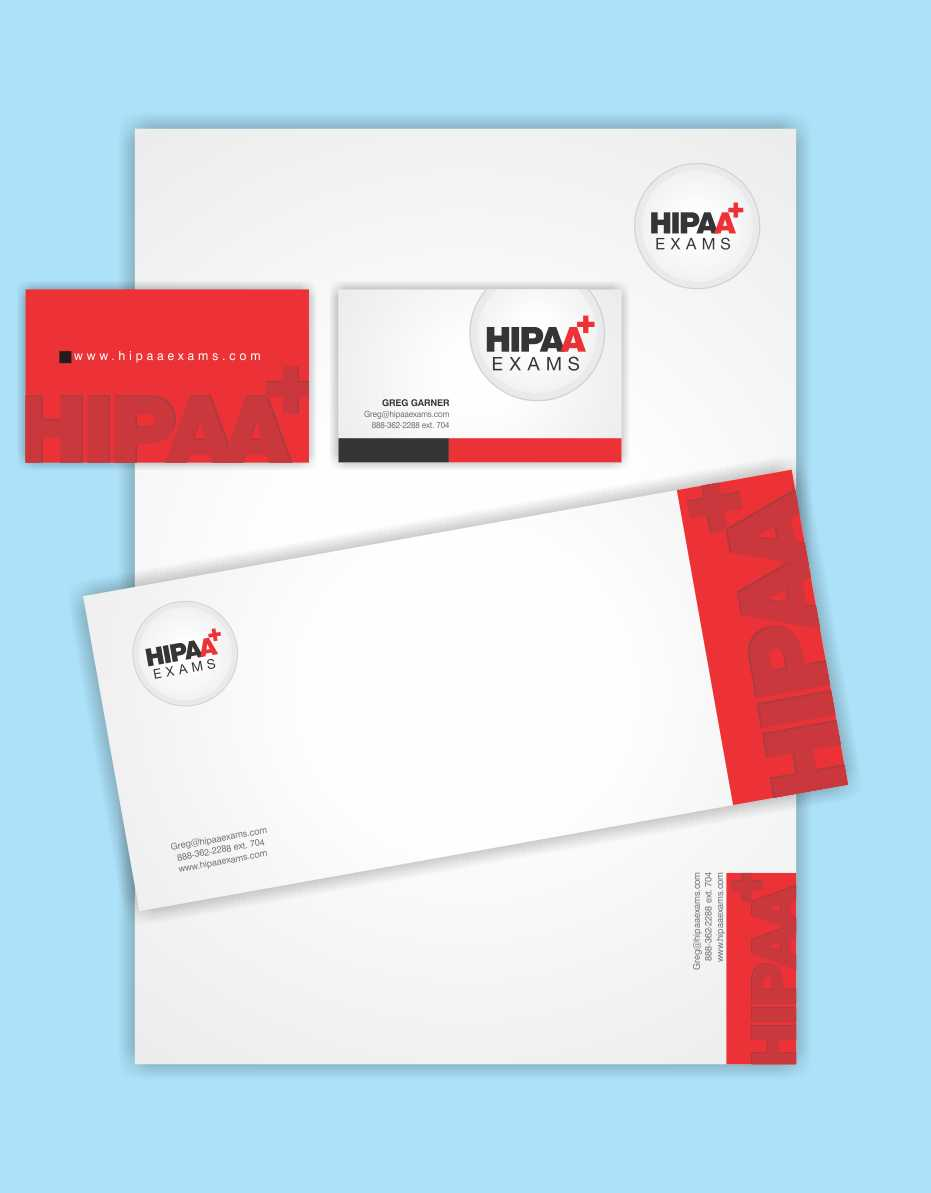 Elegant, Playful Stationery Design for HIPAA Exams by ...