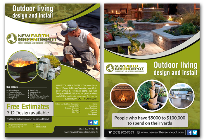 modern personable construction flyer design for newearthgreendepot