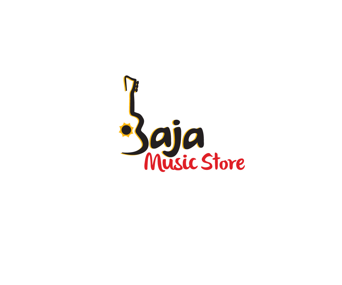 modern professional store logo design for baja music store by bucktornado design 5541125. Black Bedroom Furniture Sets. Home Design Ideas