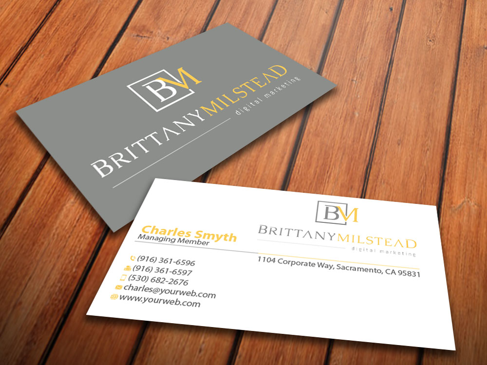 Modern, Upmarket Business Card Design for TBMilstead Inc. by ...