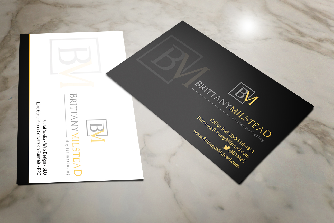 Modern, Upmarket, Printing Business Card Design for TBMilstead Inc ...