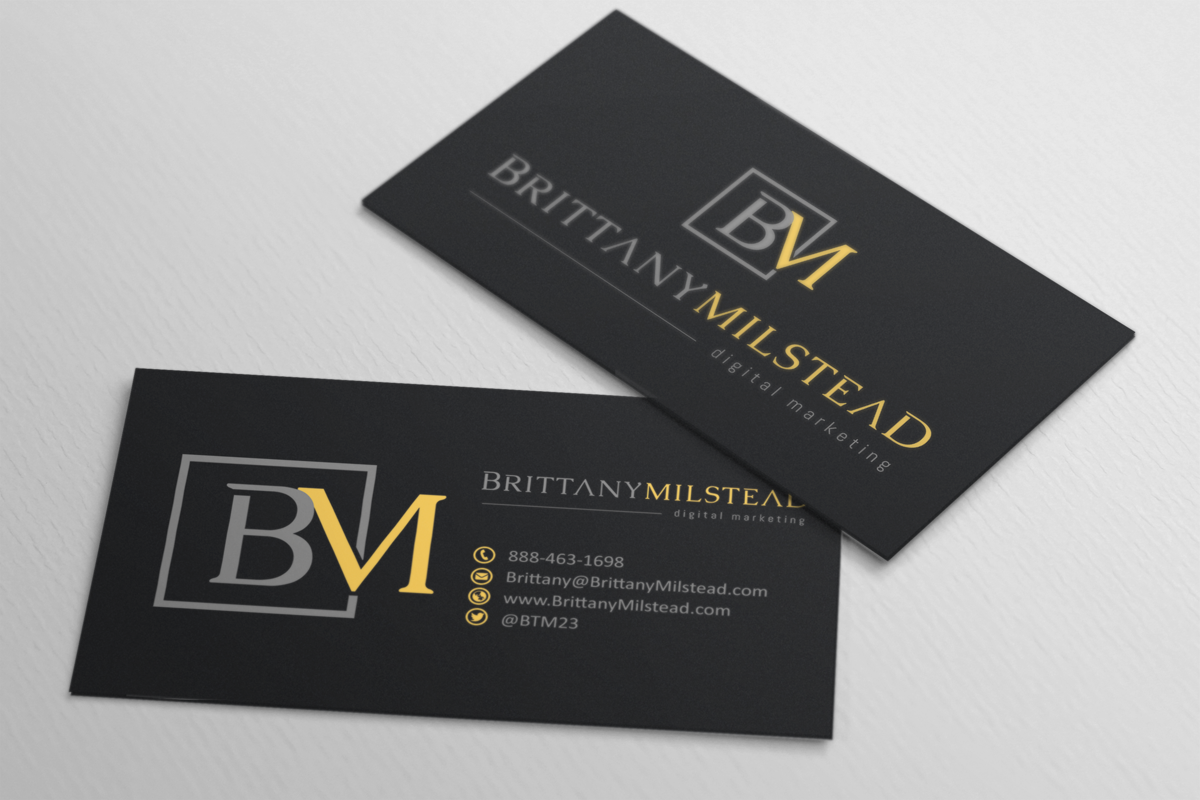 Modern upmarket business card design for tbmilstead inc for Business design consultant