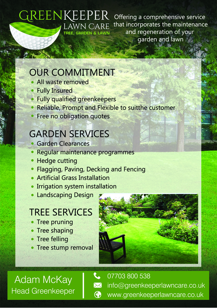 Bold, Modern, Gardener Graphic Design for Greenkeeper Lawn Care by ...
