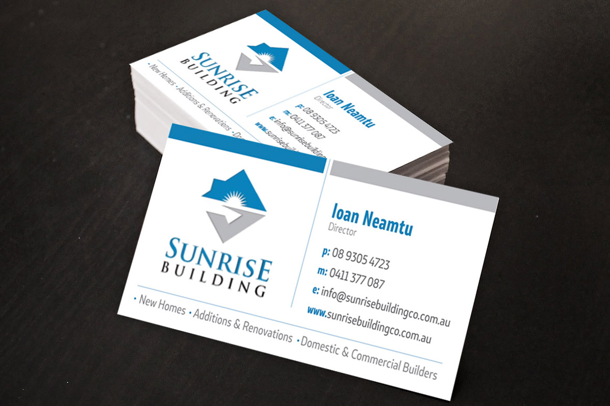 Building business card design for a company by dejandzamtovski building business card design for a company in australia design 5566589 reheart Images