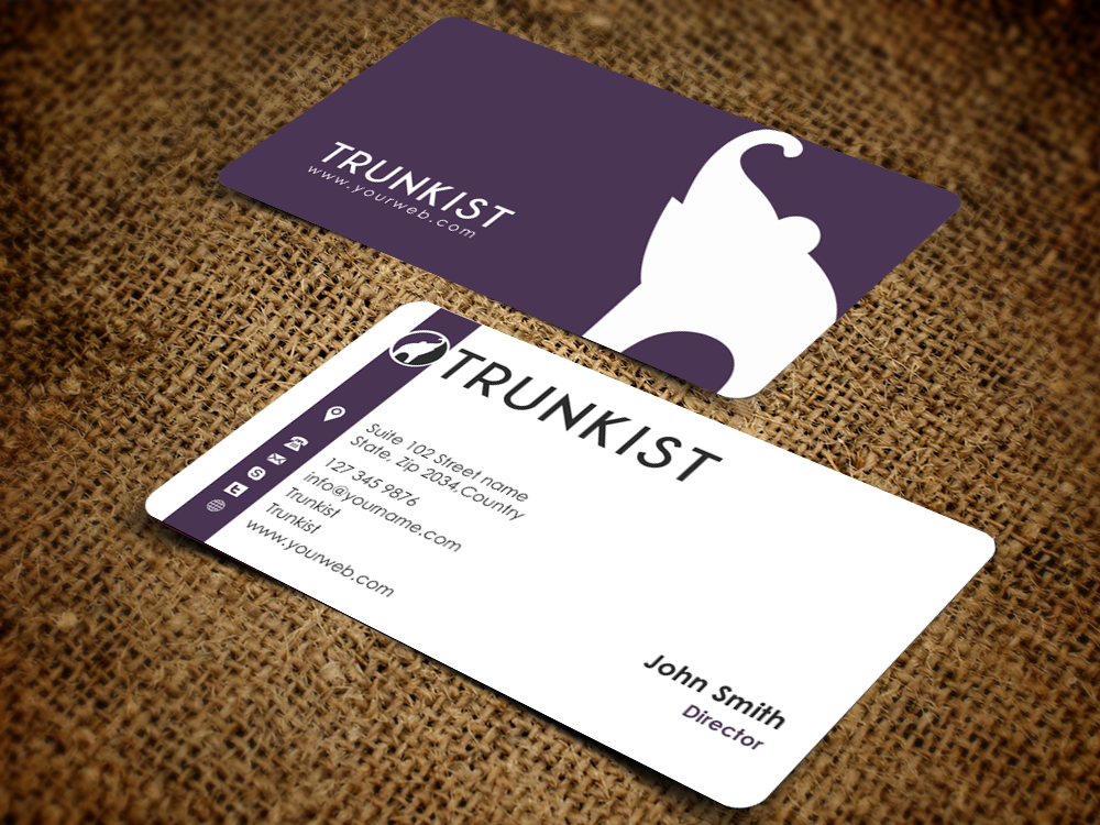 Business Card Design By Pixelfountain For Trunkist