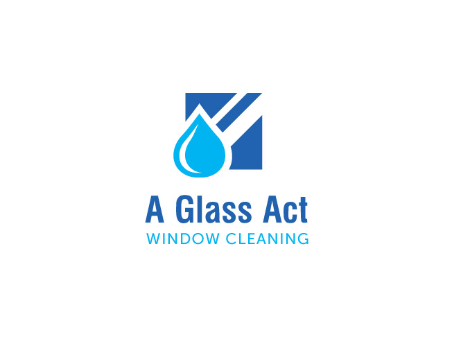 174 serious modern logo designs for a glass act window for Window cleaning logo ideas