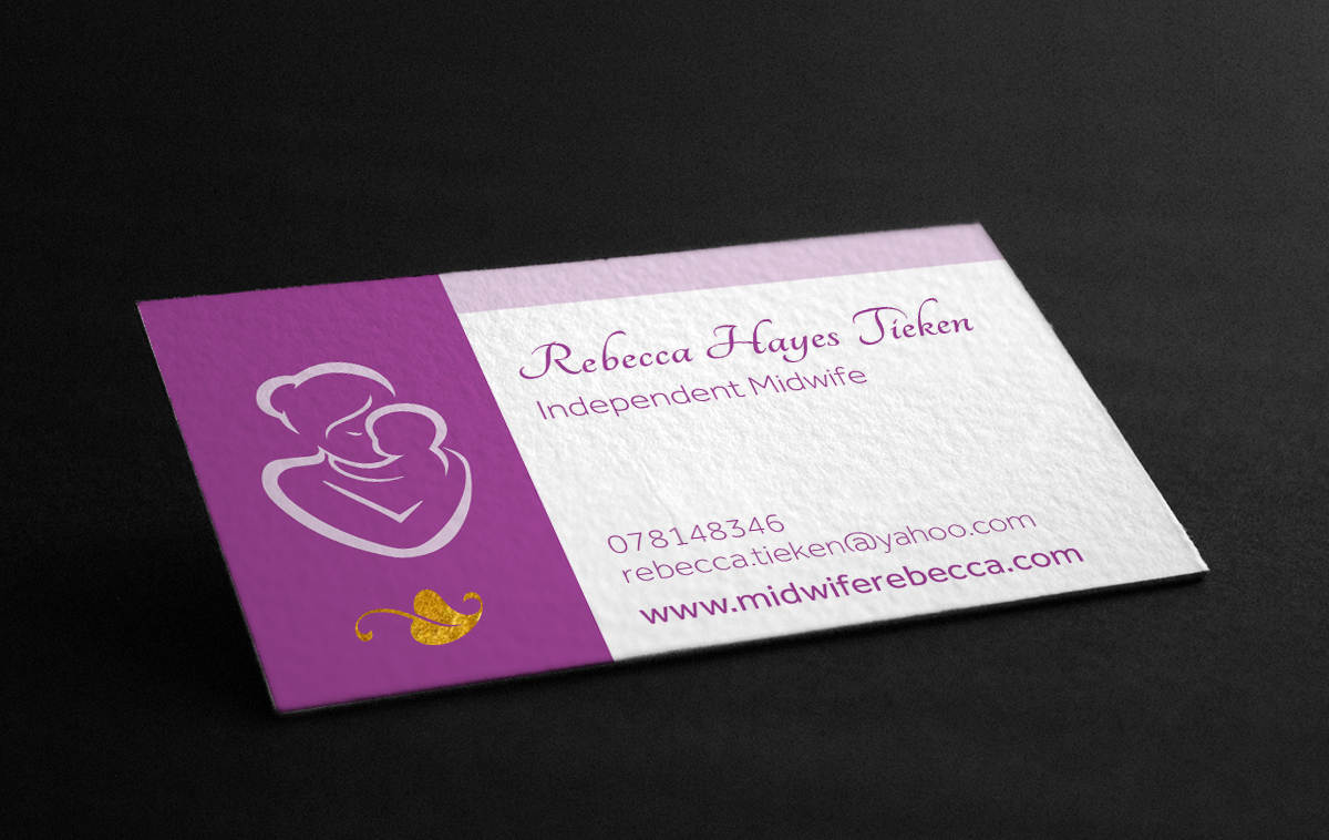 Modern, Feminine, Baby Business Card Design for a Company by ...