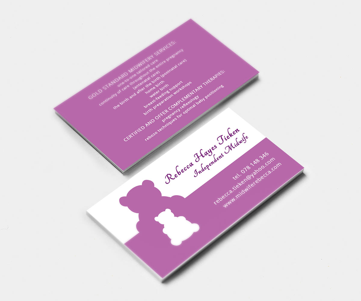 Modern, Feminine, Baby Business Card Design for a Company by olgb ...
