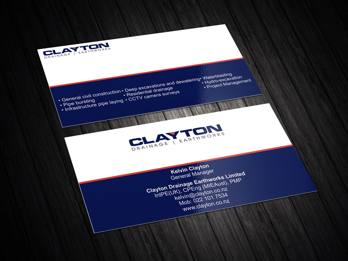 Professional, Bold, Construction Company Business Card