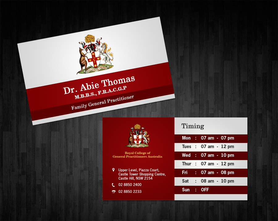 Business business card design for a company by owaisias design business business card design for a company in australia design 1531111 reheart Choice Image