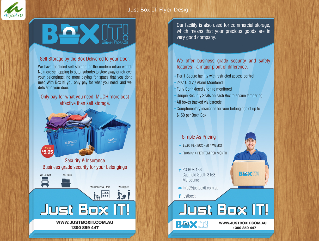 Flyer Design by AditiArts for this project | Design #5670160 & Playful Modern Self Storage Flyer Design for a Company by ...