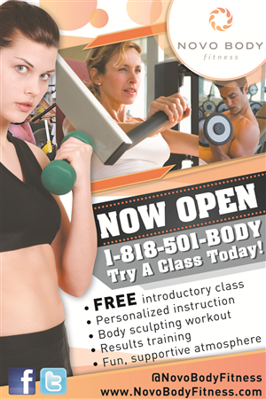 Fitness Studio Grand Opening Sidewalk Poster | 16 Poster