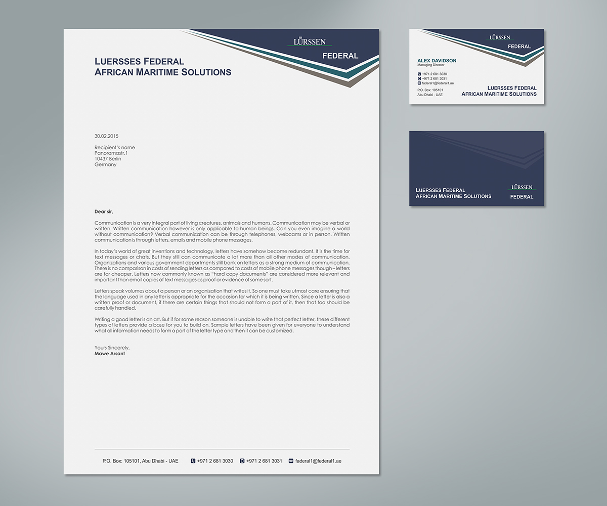 Elegant Professional Corporate Letterhead Template 000890: Elegant, Playful, Business Letterhead Design For A Company