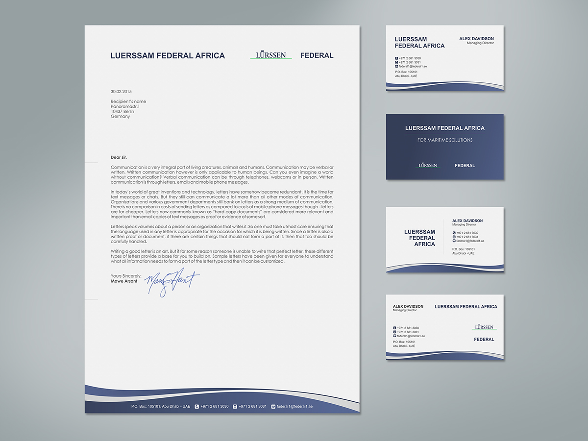 Elegant Playful Business Letterhead Design For A Company By