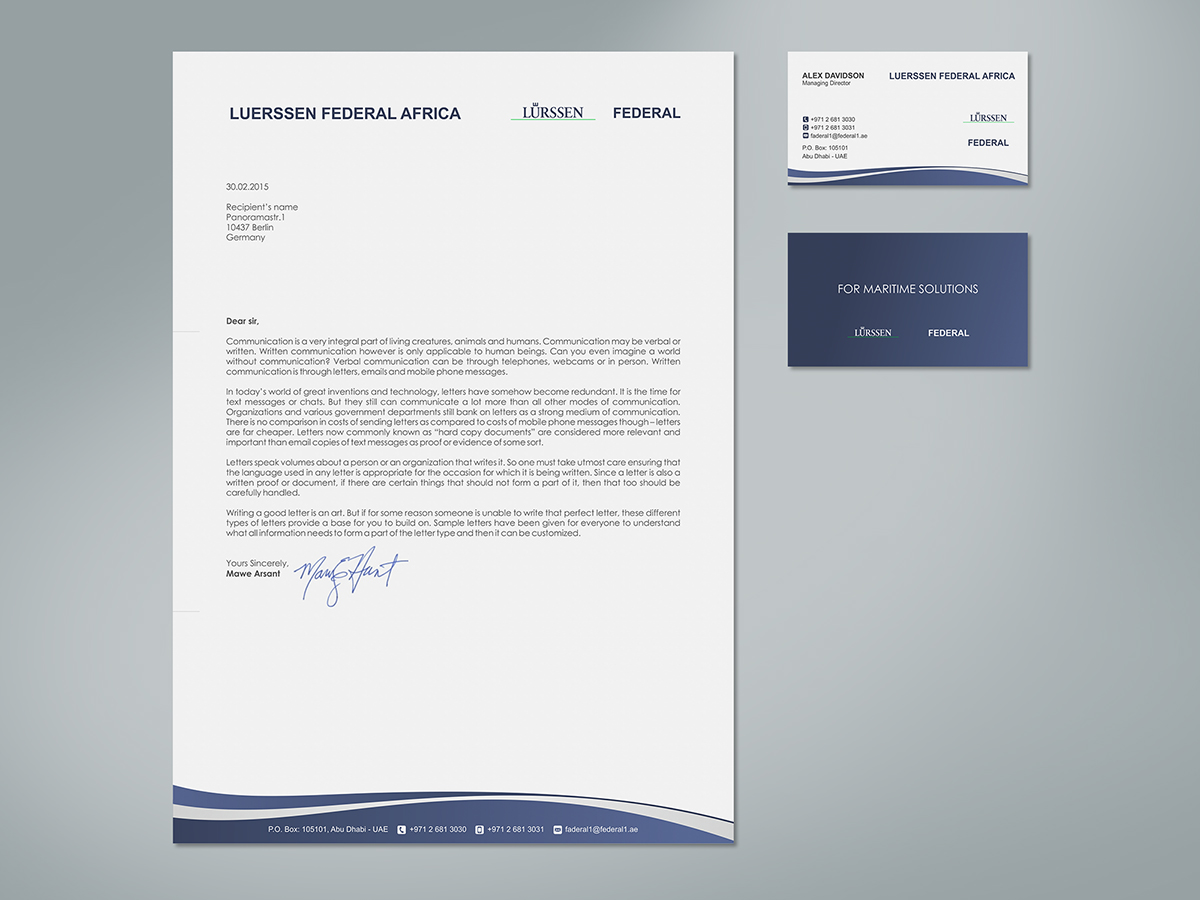 63 Elegant Letterhead Designs | Business Letterhead Design Project ...