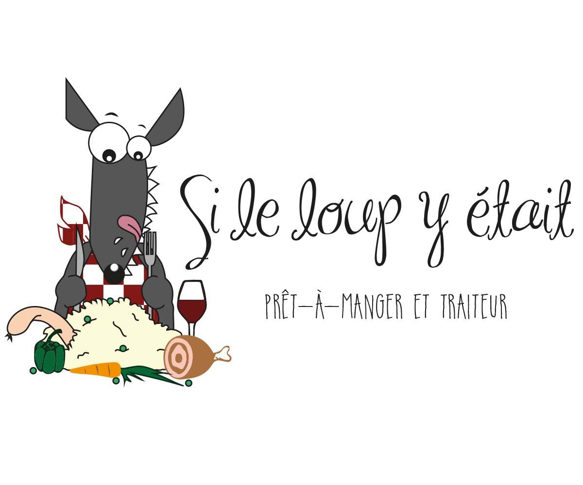 Cartoon Hungry Wolf logo for a Canadian company
