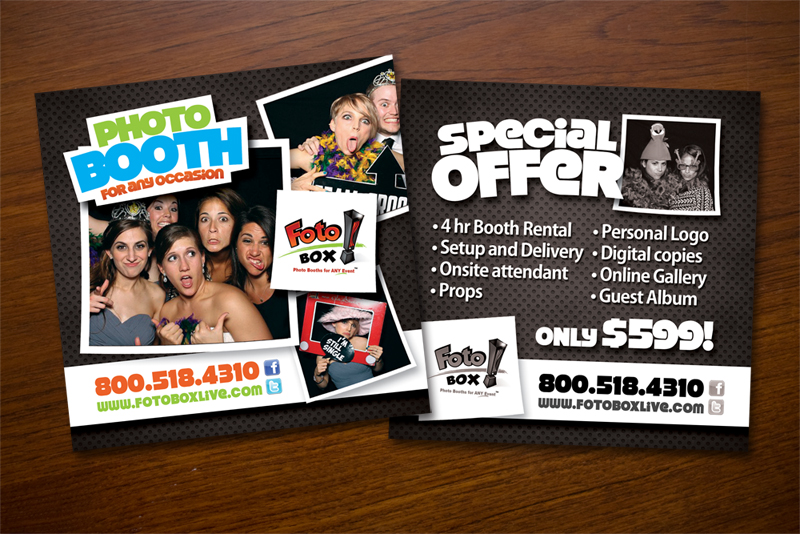 Shirt design services - Colorful Playful Flyer Design For Foto Box By John Mares