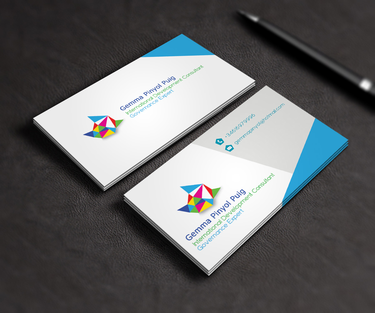 Bold playful business business card design for a company for International design company