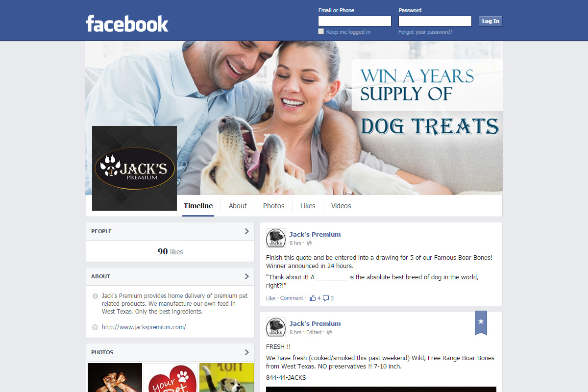 Facebook company profile - Facebook design by esolbiz for home delivery premium dog food company needs facebook profile picture cover