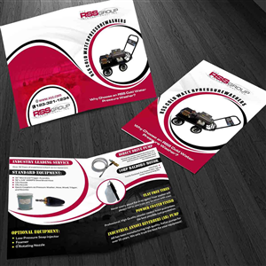 Brochure Design by ESolz Technologies - Pressure Washer Manufacturing Company needs bro ...